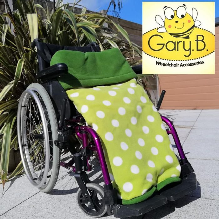 Sea Green Spots Forest Green GaryB Wheelchair Accessories
