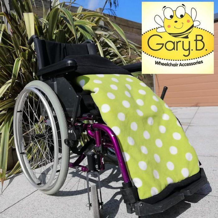Sea Green Spots Black GaryB Wheelchair Accessories