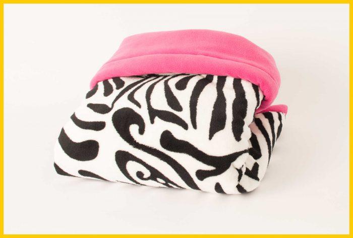 Zebra pink blanket GaryB